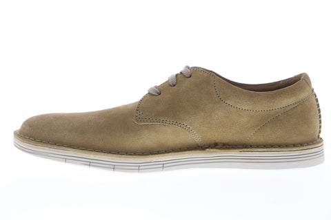 Clarks Forge Vibe 26149657 Mens Beige Suede Casual Lace Up Oxfords Shoes