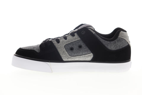 DC Pure 300660 Mens Black Canvas Lace Up Skate Sneakers Shoes