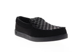 dc villain 301361 mens black nubuck slip on athletic skate shoes