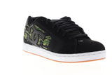 DC Net SE 302297 Mens Black Leather Lace Up Athletic Skate Shoes