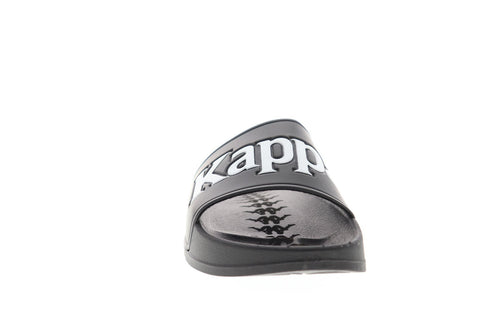 Kappa 222 Banda Adam 9 Mens Black Synthetic Slides Slip On Sandals Shoes