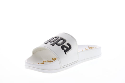 Kappa 222 Banda Adam 9 Mens White Synthetic Slides Slip On Sandals Shoes