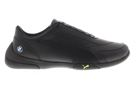 Puma Bmw Mms Kart Cat III Mens Black Leather Athletic Racing Shoes