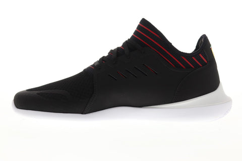 Puma Scuderia Ferrari Evo Cat Mace Mens Black Mesh Lace Up Athletic Racing Shoes