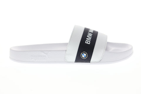 Puma Bmw Mms Leadcat Mens White Synthetic Slides Slip On Sandals Shoes