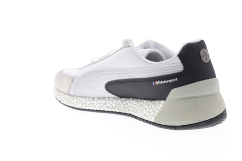 Puma BMW MMS Speed Hybrid 30646801 Mens White Suede Low Top Sneakers Shoes