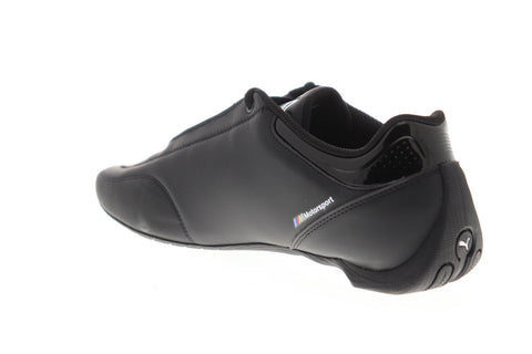 Puma Bmw Mms Future Kart Cat Mens Black Leather Athletic Racing Shoes
