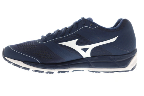 Mizuno Synchro Mx Mens Blue Textile Athletic Lace Up Training Shoes