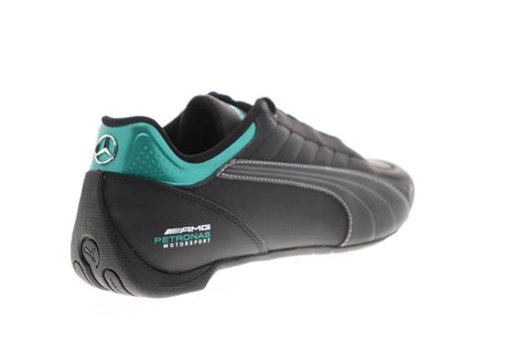 Puma Mapm Future Kart Cat Mens Black Leather Athletic Racing Shoes