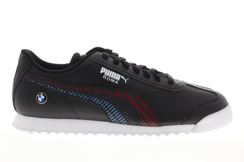 Puma Bmw Mms Roma 33992901 Mens Black Synthetic Low Top Sneakers Shoes