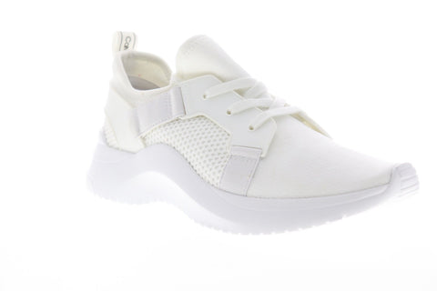 Calvin Klein Unni 34F1279-WHT Mens White Canvas Low Top Designer Sneakers Shoes