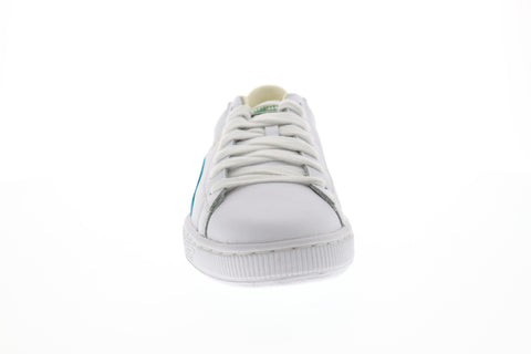 Puma Basket Classic Mens White Leather Low Top Lace Up Sneakers Shoes
