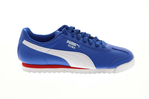 Puma Roma Basic 35357286 Mens Blue Classic Low Top Lifestyle Sneakers Shoes