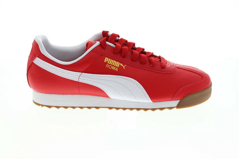 Puma Roma Basic 35357296 Mens Red Classic Low Top Lifestyle Sneakers Shoes