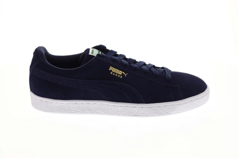 Puma Suede Classic + 35656852 Mens Blue Low Top Lace Up Lifestyle Sneakers Shoes