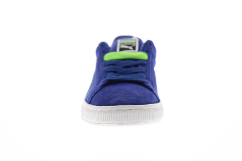 Puma Suede Classic + Mens Blue Suede Low Top Lace Up Sneakers Shoes
