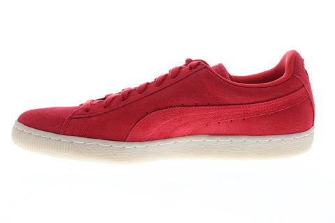 Puma Suede Classic Colored Mens Red Suede Low Top Lace Up Sneakers Shoes