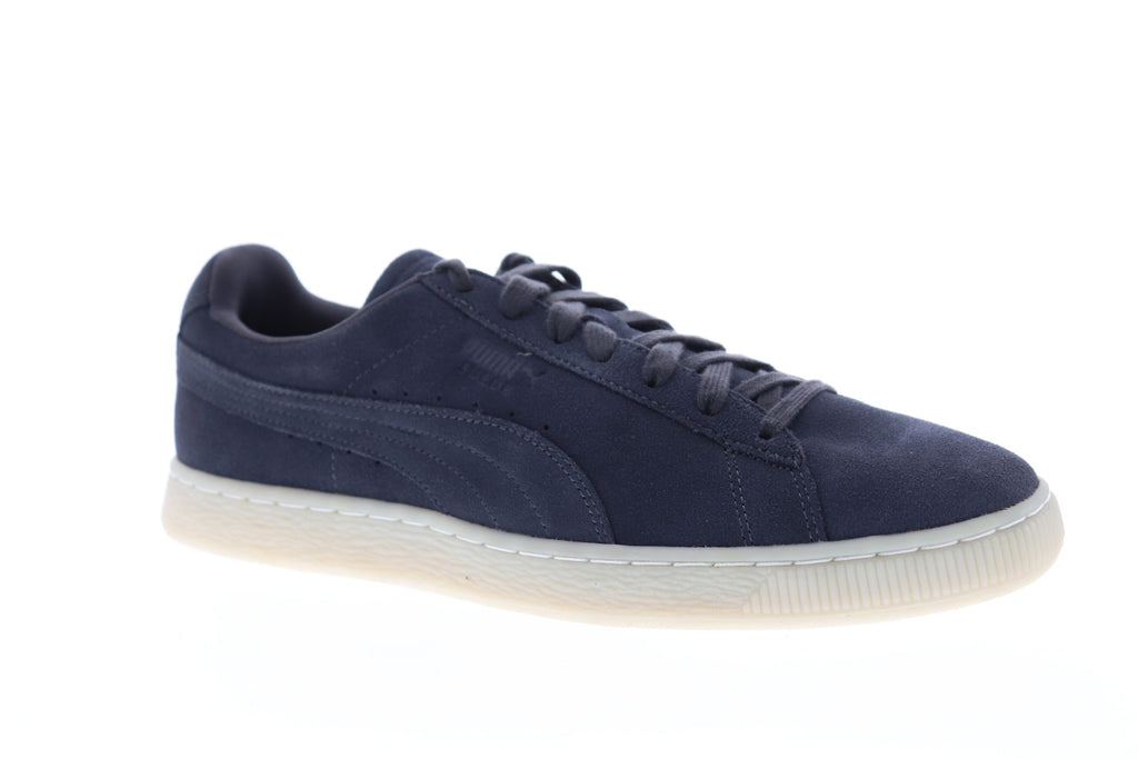 4ba3c49ba0 Puma Suede Classic Colored Mens Blue Suede Low Top Lace Up Sneakers Shoes