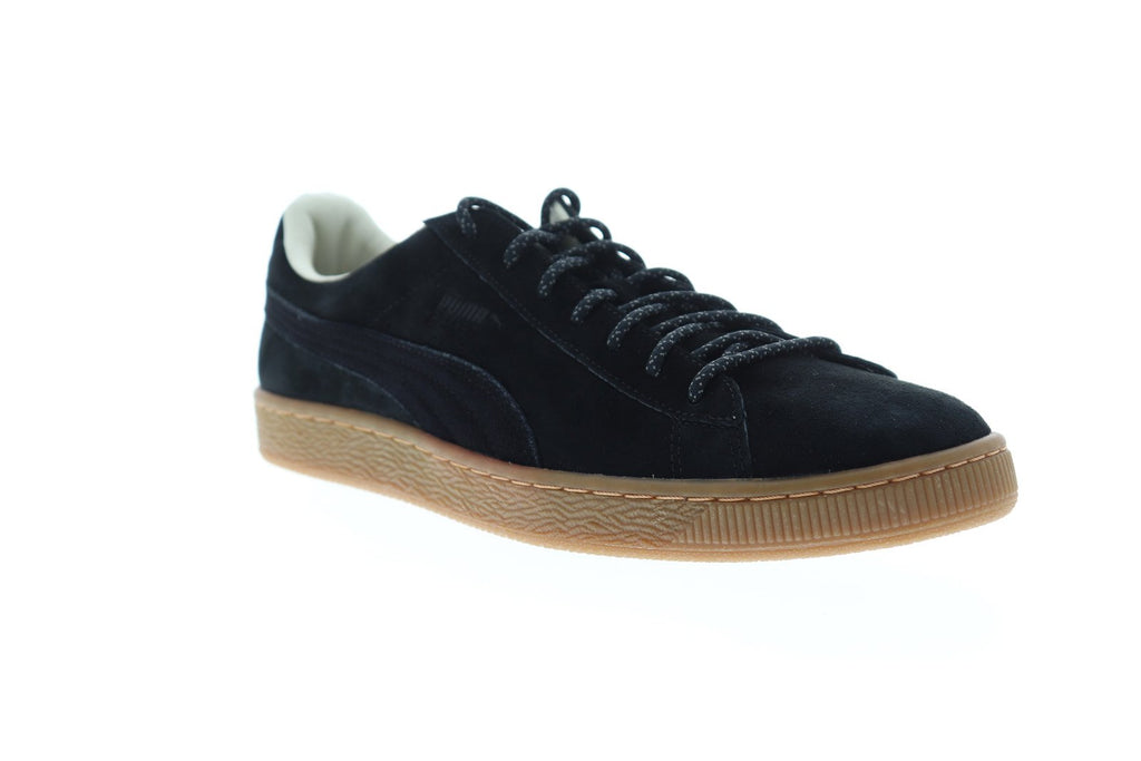buy online a9caf eb448 Puma Basket Classic Winterized Mens Black Suede Low Top Sneakers Shoes