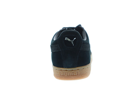 Puma Suede Classic Citi Mens Black Suede Low Top Lace Up Sneakers Shoes