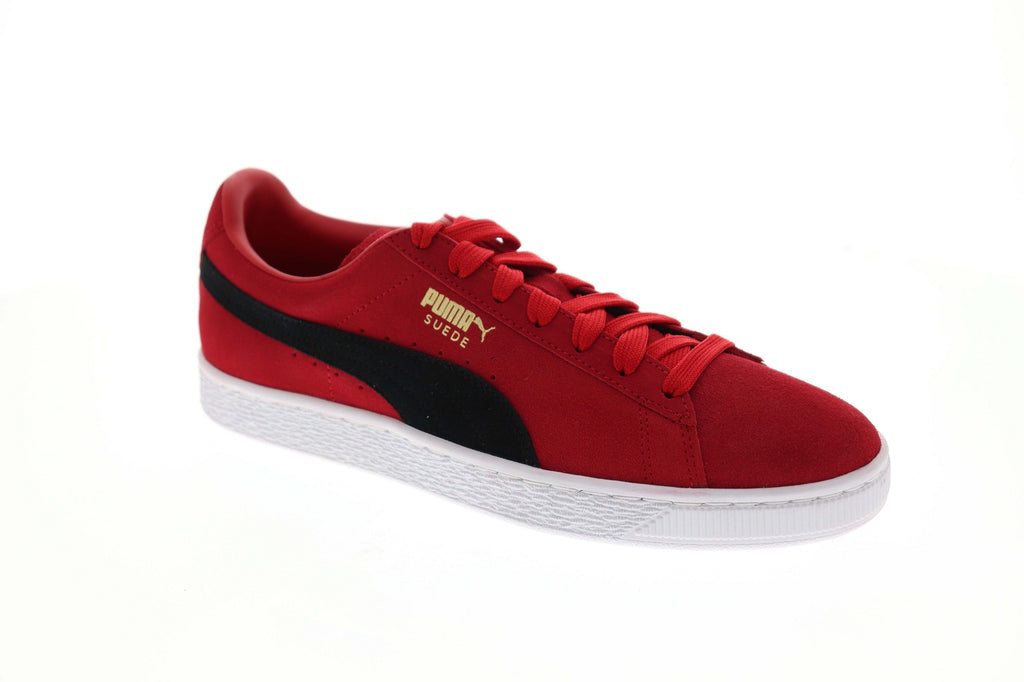 best sneakers 412c2 8cf6c Puma Suede Classic + Mens Red Suede Low Top Lace Up Sneakers Shoes