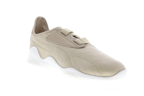 Puma Mostro Premium 36382302 Mens Beige Tan Leather Lifestyle Sneakers Shoes