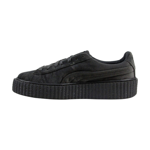 Puma Fenty By Rihanna Creeper Velvet Womens Gray Casual Lace Up Sneakers Shoes