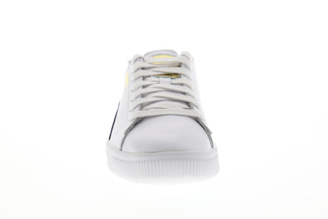 Puma Clyde Core L Foil Mens White Leather Low Top Lace Up Sneakers Shoes