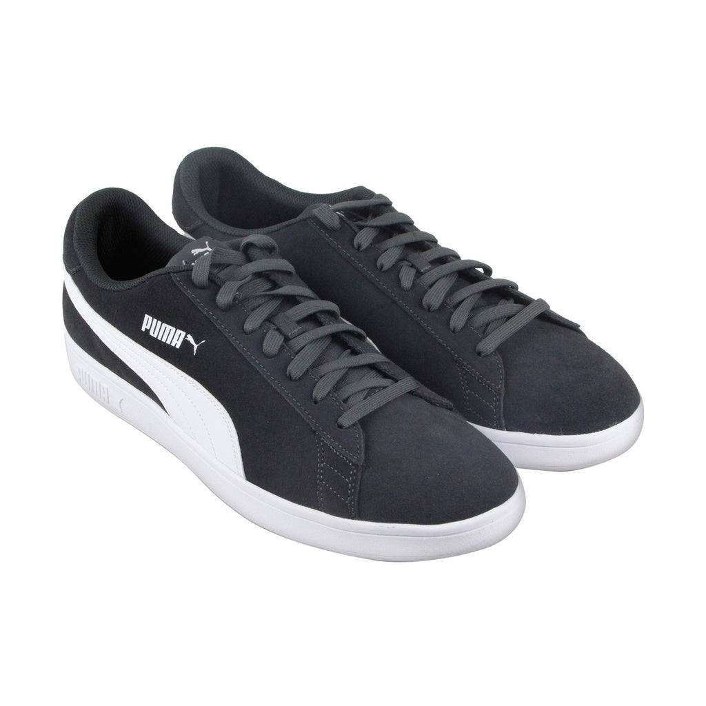 Puma Smash V2 Mens Gray Suede Low Top Lace Up Sneakers Shoes