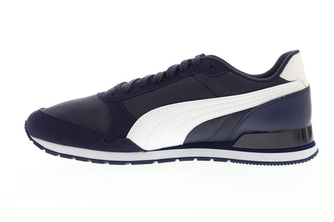 Puma St Runner V2 Nl Mens Blue Suede & Nylon Low Top Sneakers Shoes
