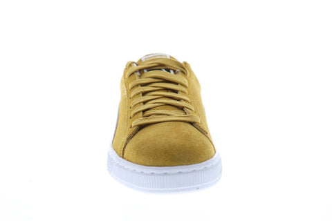 Puma Suede Classic 36534710 Mens Yellow Suede Low Top Sneakers Shoes