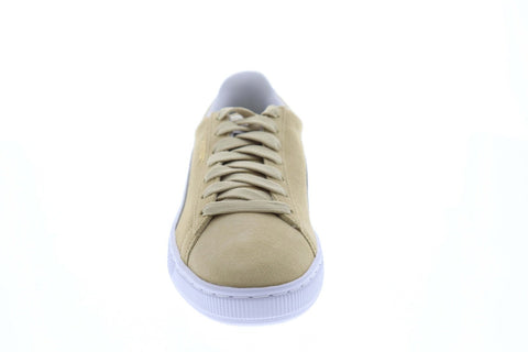 Puma Suede Classic Mens Beige Suede Low Top Lace Up Sneakers Shoes