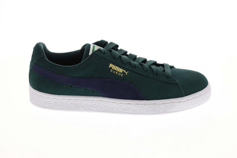 Puma Suede Classic 36534750 Mens Green Low Top Lace Up Lifestyle Sneakers Shoes
