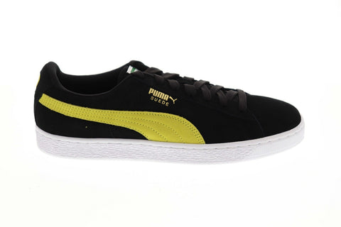 Puma Suede Classic Mens Black Suede Low Top Lace Up Sneakers Shoes