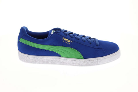 Puma Suede Classic Mens Blue Suede Low Top Lace Up Sneakers Shoes