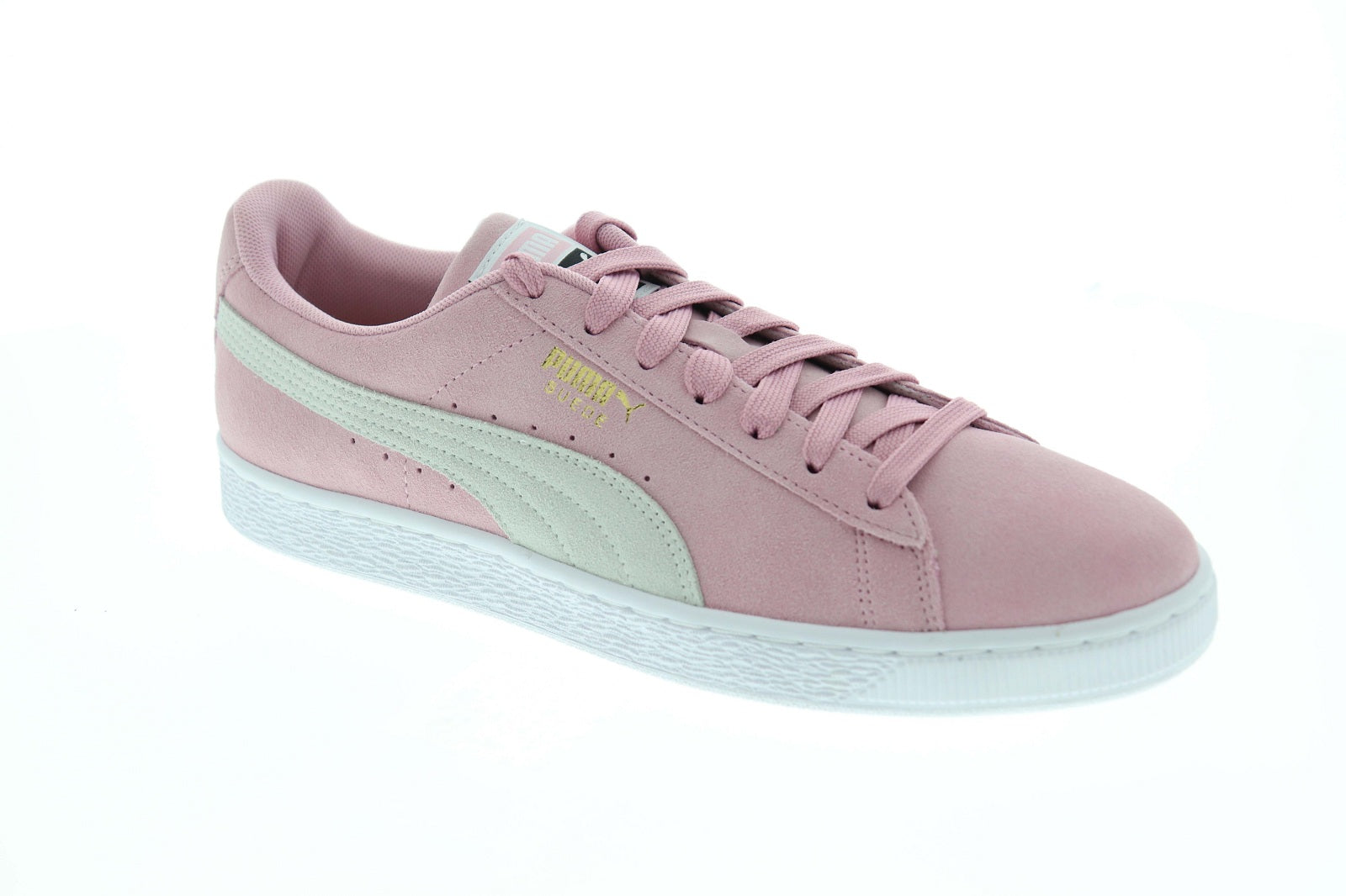 another chance be8ed d67d3 Puma Suede Classic Mens Pink Suede Low Top Lace Up Sneakers Shoes