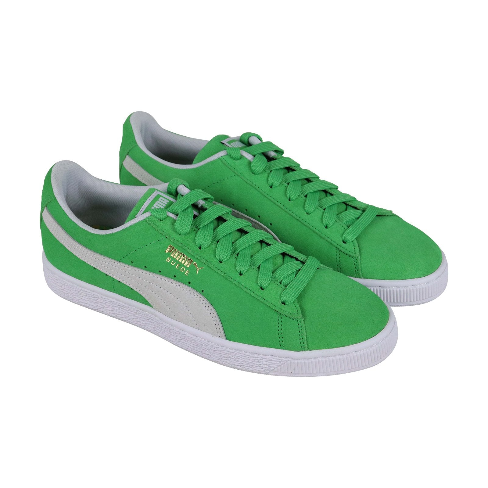 Puma Suede Classic 36534768 Mens Green Lace Up Low Top Sneakers Shoes