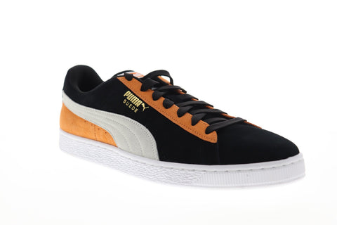 Puma Suede Classic 36534778 Mens Black Suede Lace Up Low Top Sneakers Shoes