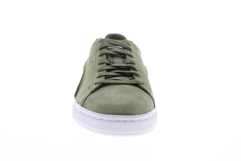 Puma Suede Classic Exposed Seams 36534805 Mens Green Low Top Sneakers Shoes