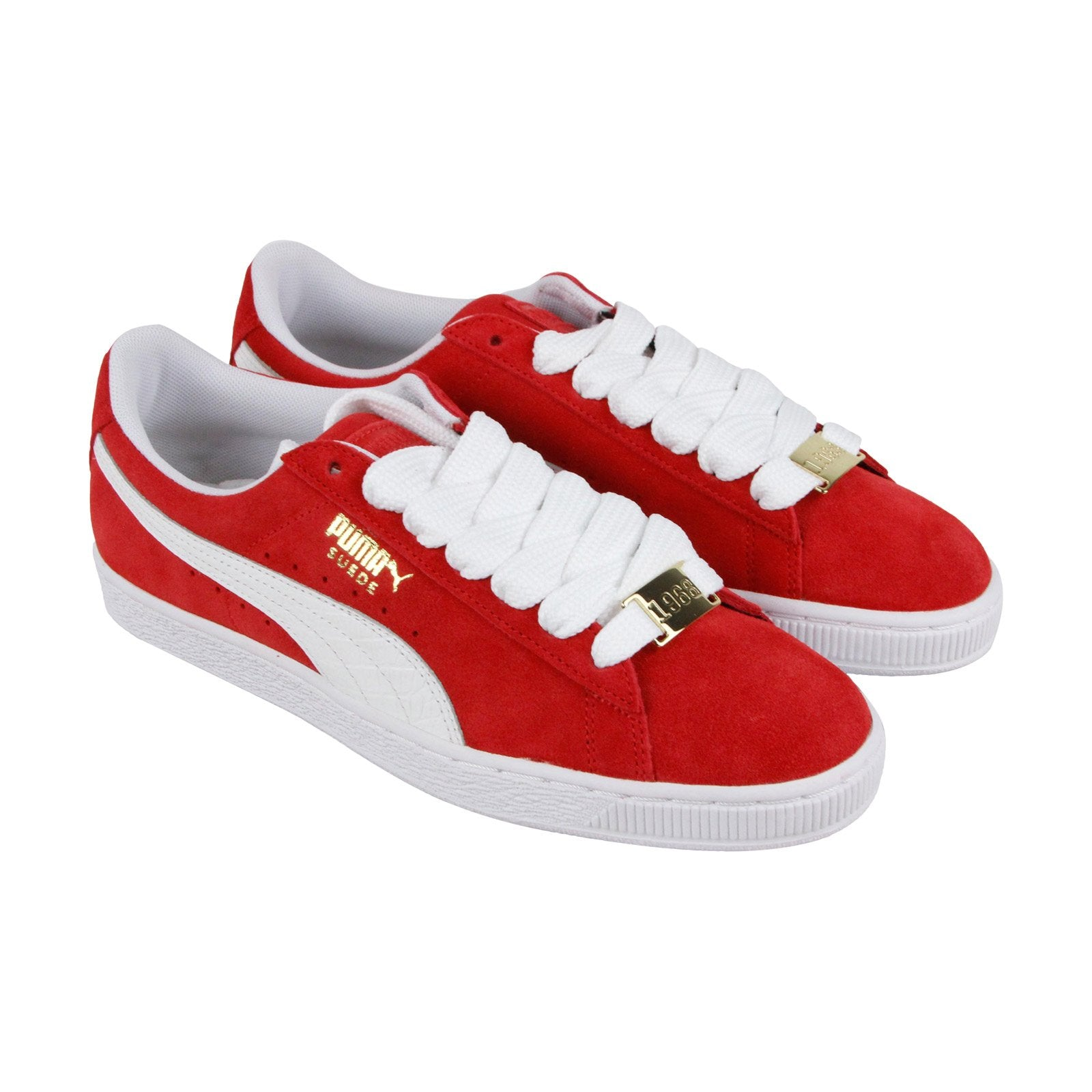 lowest price 1bd8f 55019 Puma Suede Classic B.Boy Fabulous Mens Red Suede Lace Up Sneakers Shoes
