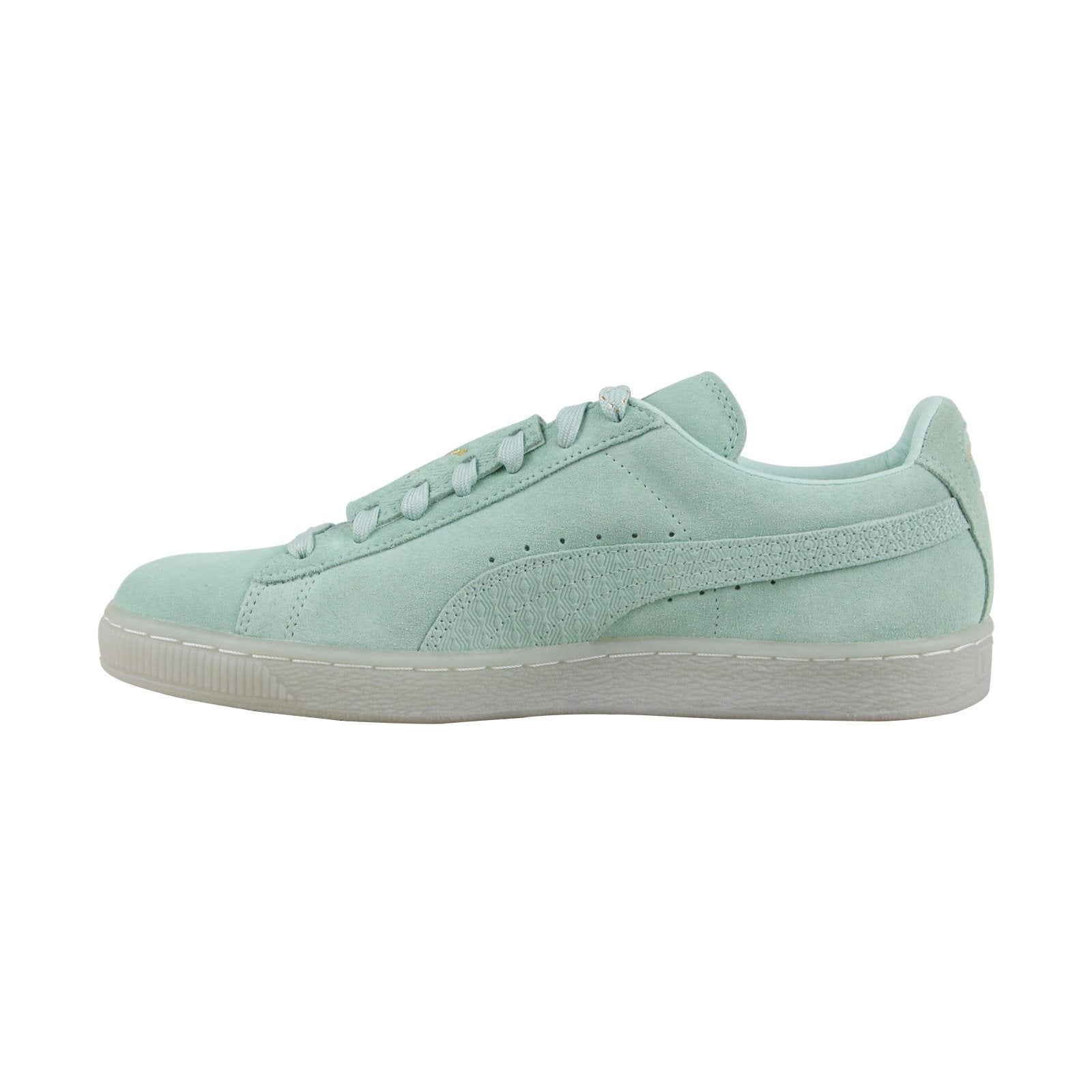 Puma Suede Epic Remix 36549401 Mens Green Casual Lace Up Low