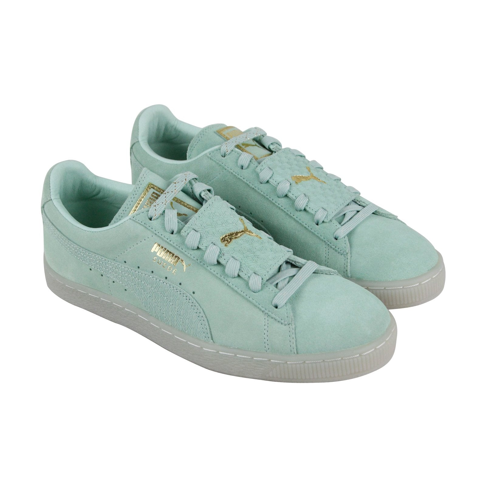Puma Suede Epic Remix 36549401 Mens Green Casual Lace Up Low Top Sneakers Shoes