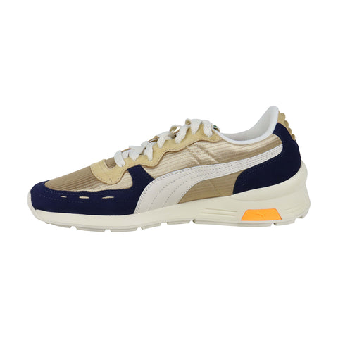 Puma Rs-350 Og Mens Gold Textile Low Top Lace Up Sneakers Shoes