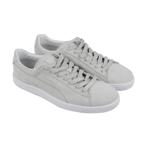 Puma Suede Classic Mens Gray Suede Lace Up Sneakers Shoes