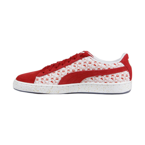 Puma Suede Classic X Hello Kitty 36630601 Womens Red Lace Up Sneakers Shoes