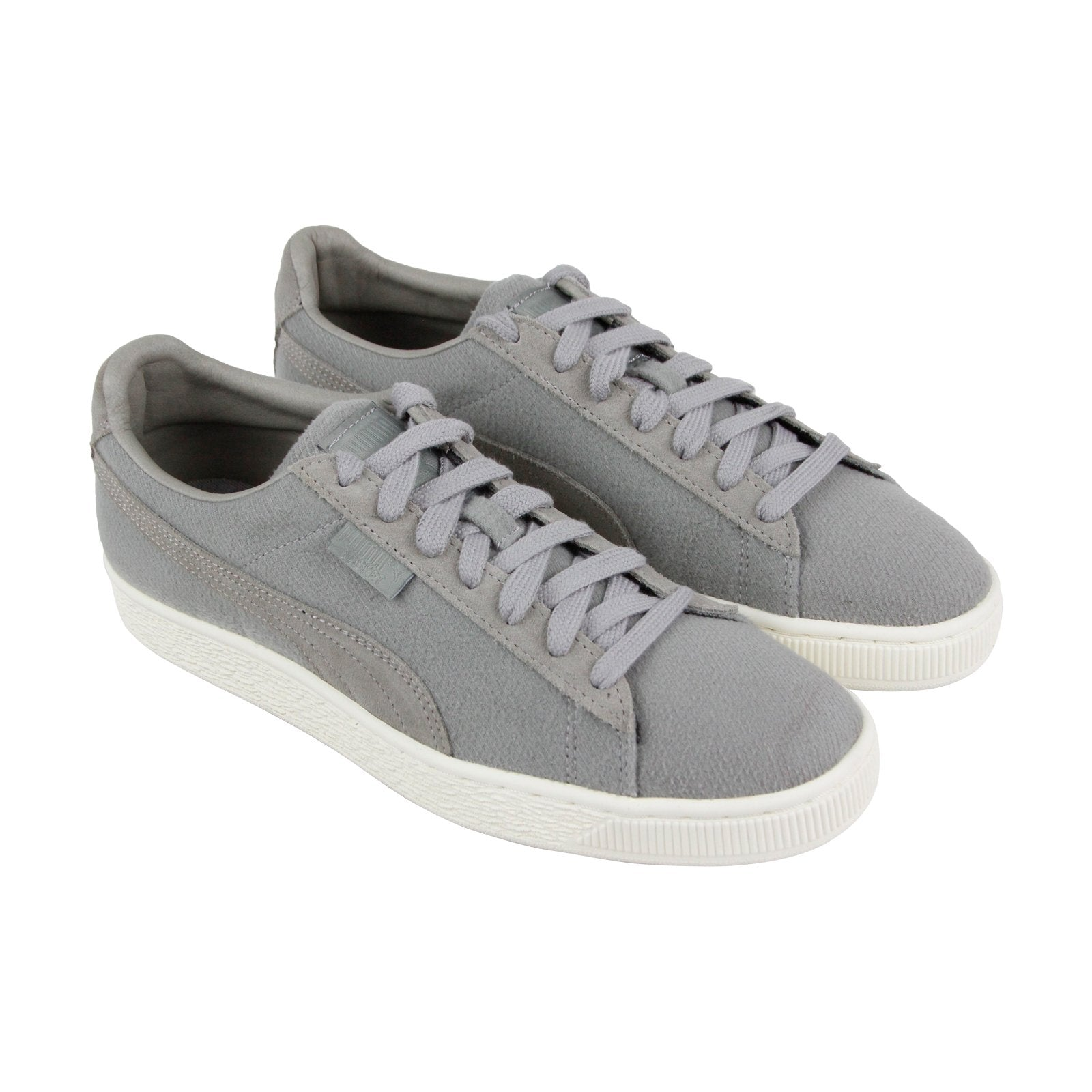 innovative design 51b78 c5c52 Puma Basket Classic Cocoon Mens Gray Textile Low Top Lace Up Sneakers Shoes