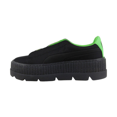 Puma Cleated Creeper Surf 36768103 Womens Black Casual Lace Up Sneakers Shoes