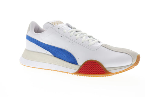 puma turin 0 36779401 mens white leather casual low top