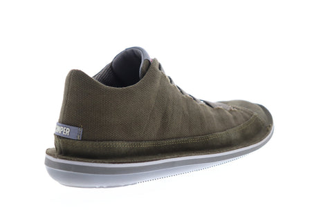 Camper Beetle 36791-039 Mens Green Canvas Suede Lace Up Low Top Sneakers Shoes