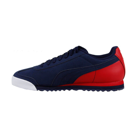 100% authentic 44214 33bd7 Puma Roma Retro Sports Mens Blue Suede Lace Up Sneakers ...